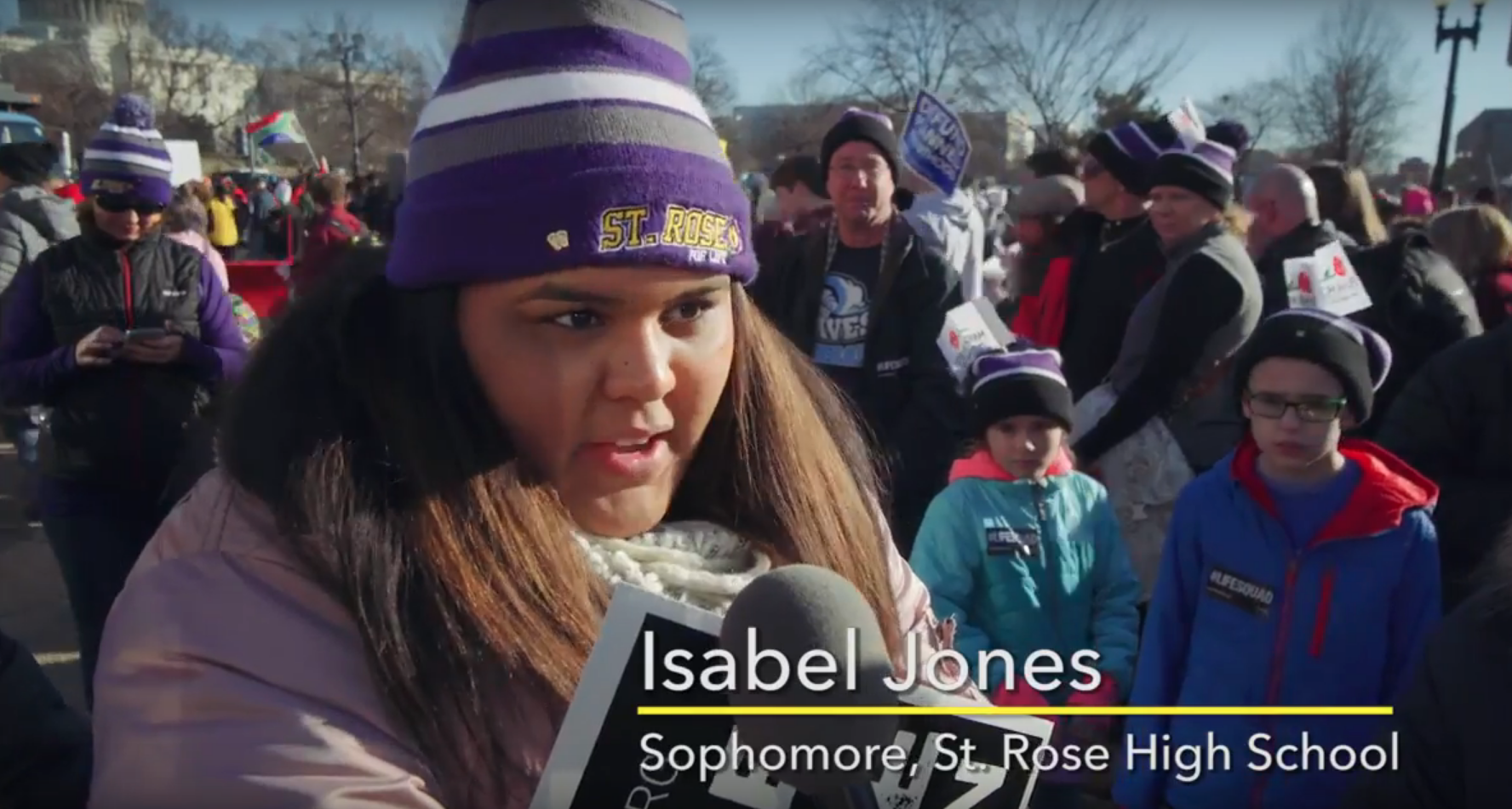 St. Rose featured on NJ's March for Life
